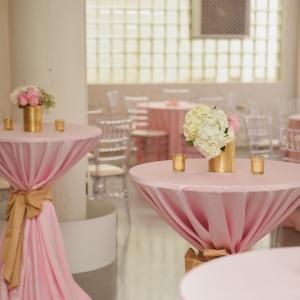 Blush Wedding Reception Table Decor
