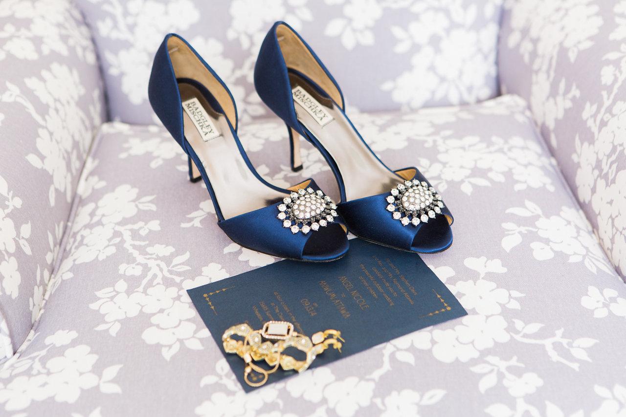 Vintage-Wedding-Blue-Bridal-Shoes